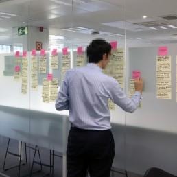 taller de historias de usuario para QuirónSalud en Madrid. Por Legridd